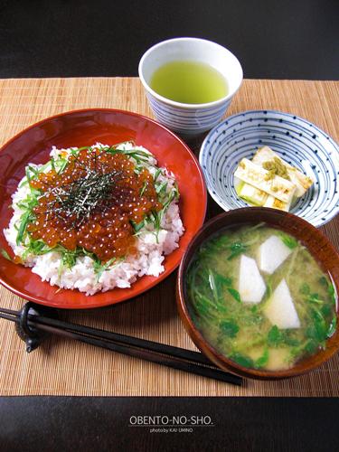 いくら丼*おウチご飯2013_01