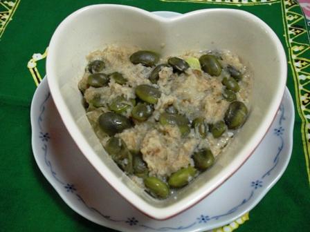 枝豆レンコン蒸し