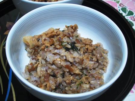 スタミナ豚肉大葉ご飯