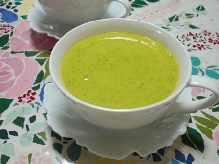 お豆腐とかぼちゃの冷たいスープ