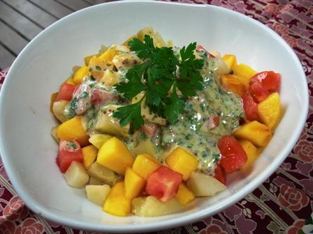 柿トマおじゃがのサラダ