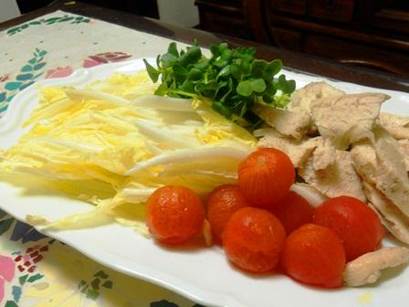 鶏と白菜のサラダ