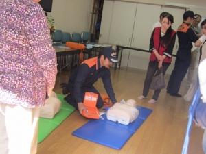 AED実演1