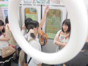 阪神電車で香櫨園へ