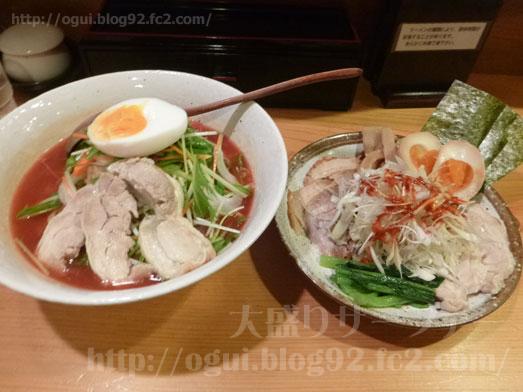 秋葉原炎麺ピリ辛トマト冷し麺大盛り全部のせ031