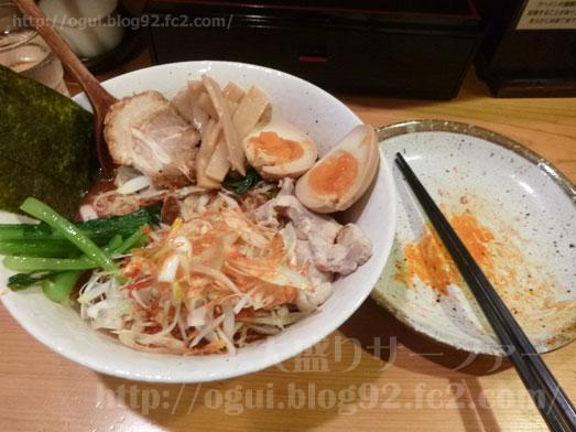 秋葉原炎麺ピリ辛トマト冷し麺大盛り全部のせ042