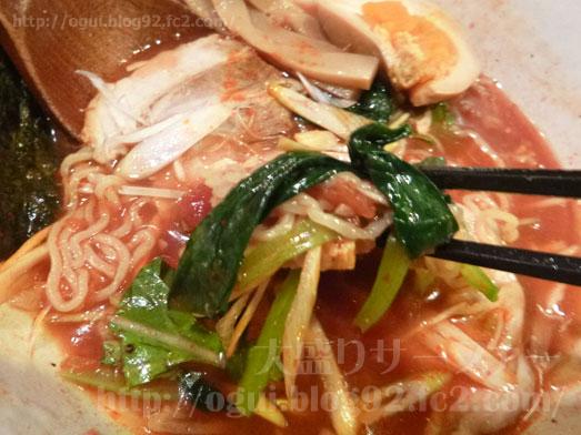 秋葉原炎麺ピリ辛トマト冷し麺大盛り全部のせ049