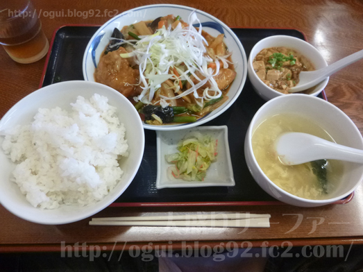山武市松尾の中華食堂天竺ランチ天竺定食大盛り013