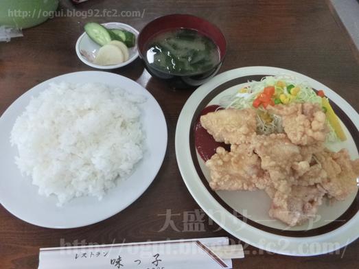 飯岡れすとらん味っ子で鶏の唐揚げ定食021