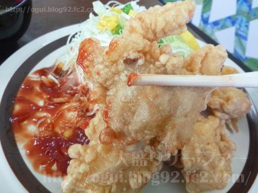 飯岡れすとらん味っ子で鶏の唐揚げ定食030