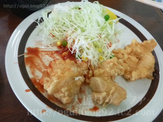 飯岡れすとらん味っ子で鶏の唐揚げ定食031