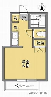 ハイツ欅202間取図