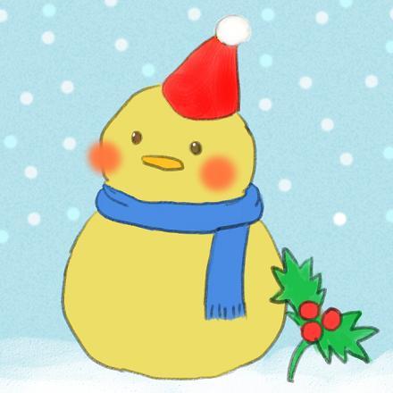 66 12月雪だるまインコ