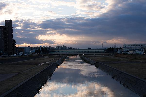 矢田川夕景-8