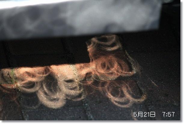 金環日食 7:57