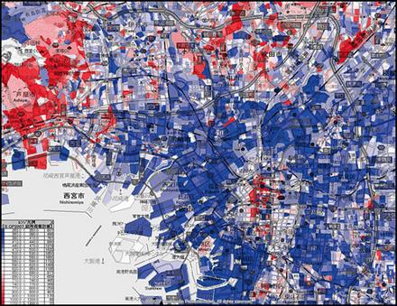 大阪所得分布図