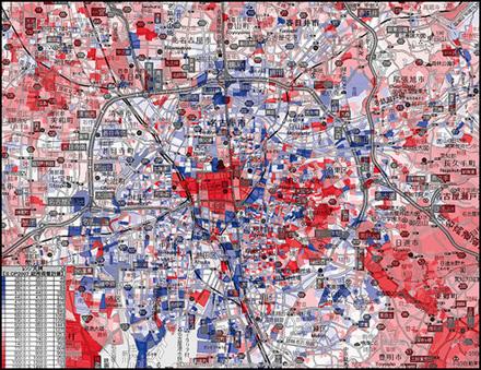 名古屋所得分布図