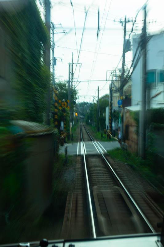 夕日と江ノ電3