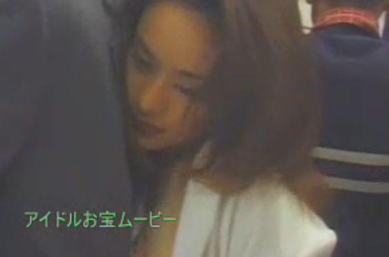 【片岡明日香】電車でおっぱい揉まれる濡れ場