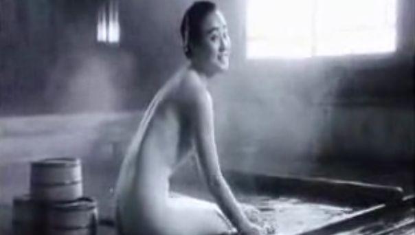 【原田貴和子】おっぱい丸出しの入浴映像