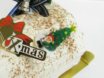 サンタとツリーのケーキピック使用例