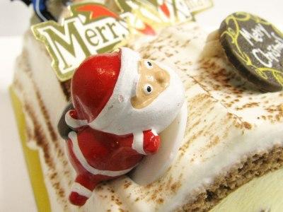 サンタのケーキピック使用例