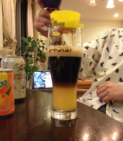ビールで。。。