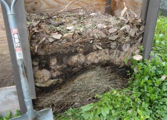 2011年5月の堆肥-層状