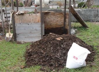 堆肥の撹拌完了