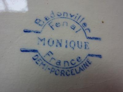 Badonvillerのお皿の刻印