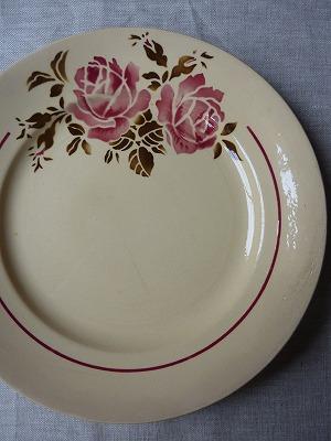 薔薇のお皿