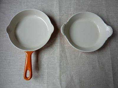 スキレットとグラタン皿