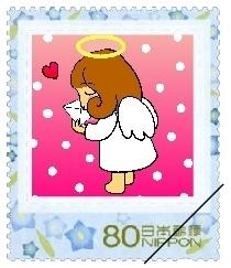 ハート温暖化♪-天使切手
