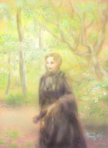 ほっと癒される光の絵画 感謝と祈りの詩と薔薇とアートコレクション-エリザベート・イメージ