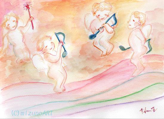 ほっと癒される光の絵画 感謝と祈りの詩と薔薇とアートコレクション-水彩画 渡邉裕美