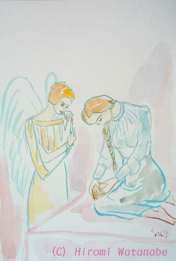 ほっと癒される光の絵画 感謝と祈りの詩と薔薇とアートコレクション-渡邉裕美 水彩画