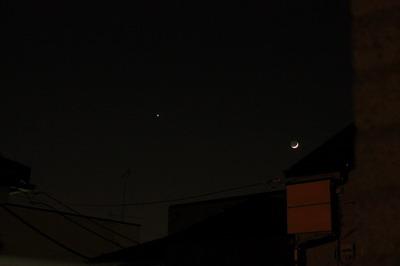 新月と金星