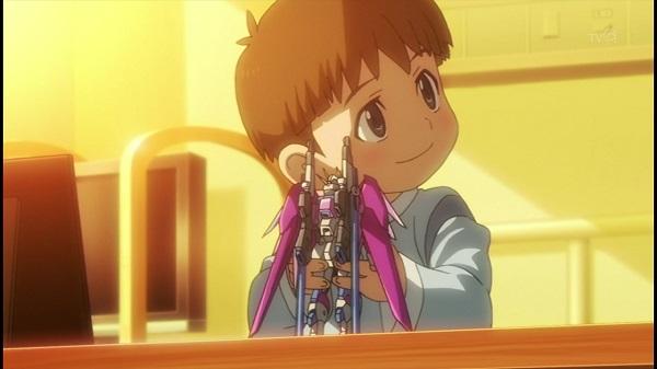 ガンプラアニメ ガンダムビルドファイターズトライ ガンダムビルドファイターズ ディスティニーガンダム スクミ 感動回 7話