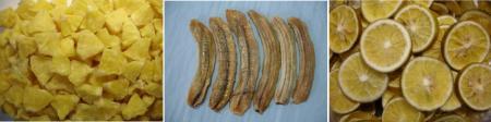 乾燥パイナップル・バナナ・みかん