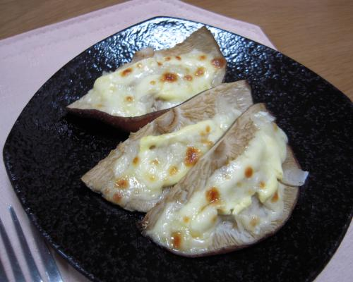 椎茸マヨ焼き