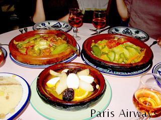 パリ モロッコ料理 タジン
