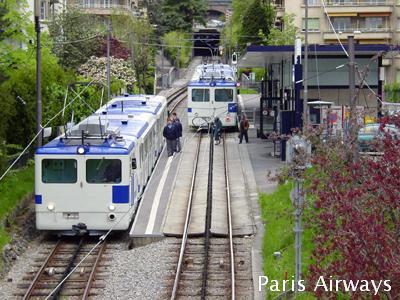 ローザンヌ メトロ 地下鉄
