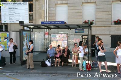パリ リヨン駅 バス停