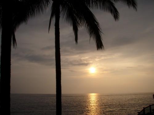 ハワイ島3日目 プールからの夕日