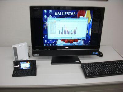 NECパソコンと携帯電話N-08B