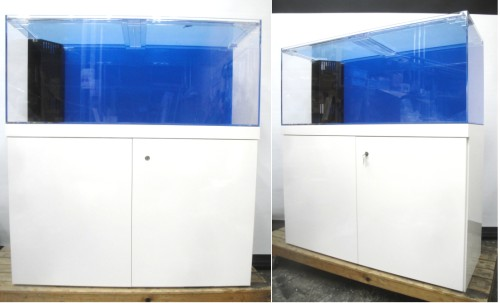 W1200×D450×H500アクリル水槽とオーダーキャビネットの組み合わせOF水槽セットです