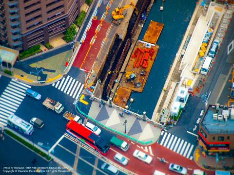 東京スカイツリー展望台から見た地上ジオラマ風