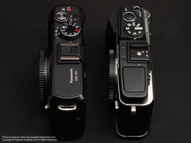 E-P3とGF1のサイズ比較