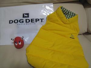 黄色ダウンジャケット