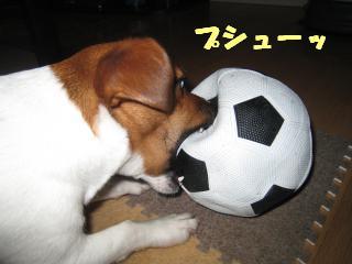サッカーボール破壊1